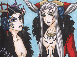 FF8- Edea and Ultimecia by StrawberryLoveAlways