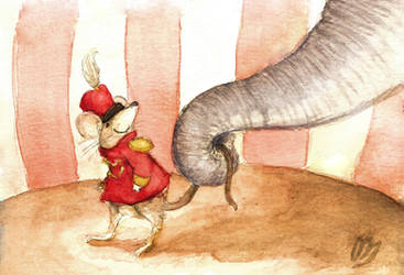 Timothy the Mouse and Dumbo by elyon192