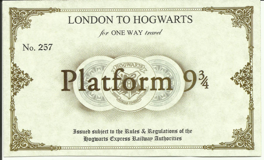 My Hogwarts Platform Ticket by AsherMarieWeasley