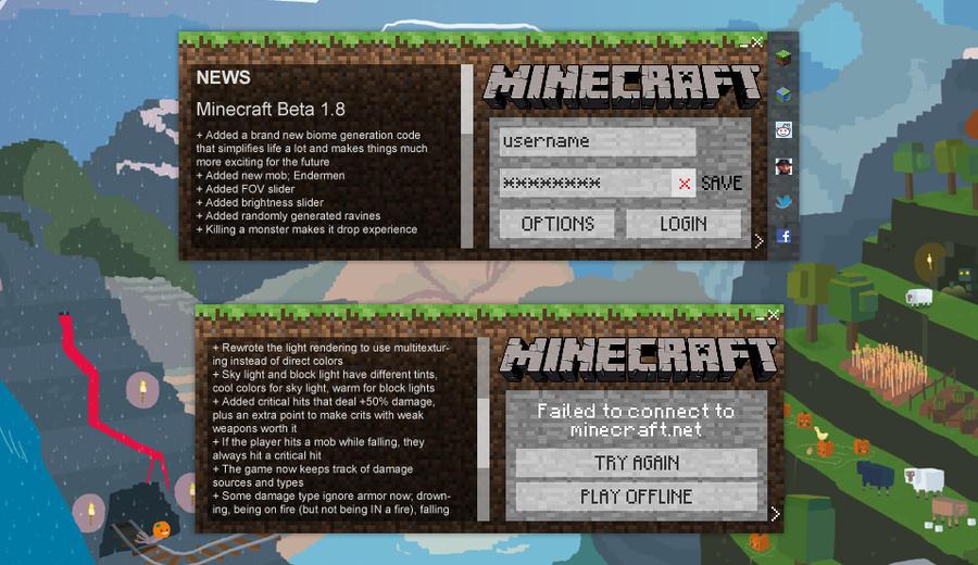Minecraft Launcher Concept by insyami