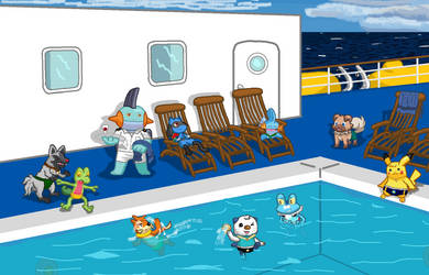Pool Party on the Lido Deck