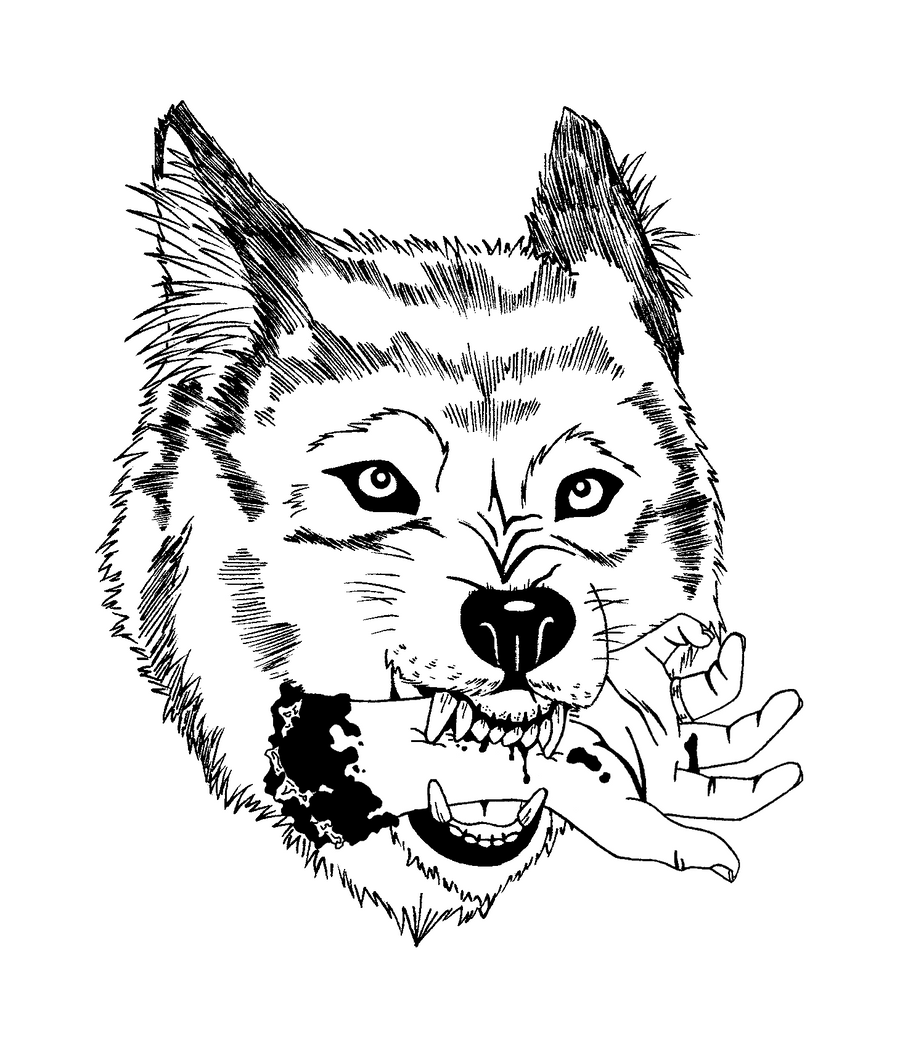 Line Drawing Wolf Head : Wolf by cleopatrawolf on deviantart