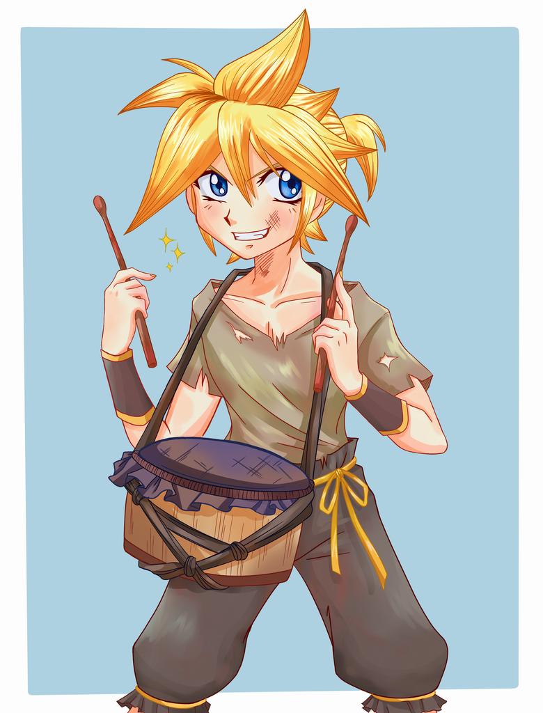 Drummer Boy Len by Cleopatrawolf