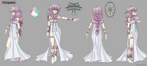 Cleopatra Reference Sheet (White Dress)
