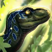 Baby raptor from Jurassic World