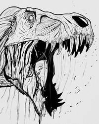 Zombie T. rex by Thek560