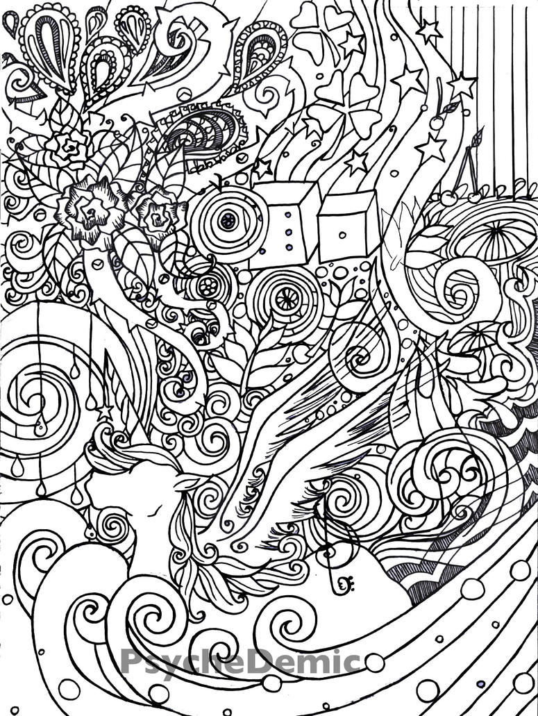 Generous Trippy Alien Coloring Pages dragon colouring in pages