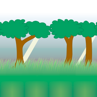 Repeating Forest Background by vidthekid