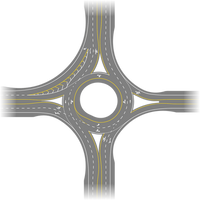 Roundabout with Various Features by vidthekid