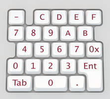 Dual Base Numeric Data Entry Keypad by vidthekid