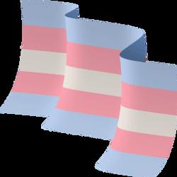 Trans flag waving