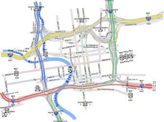 Downtown Freeway Diagram '07 by vidthekid