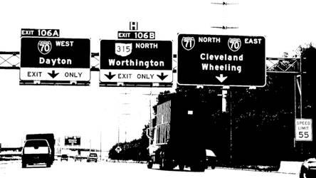 Black and White Freeway Scene by vidthekid