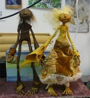 Baba Yaga and Vasilisa by bleaknimue