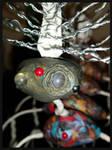 Alien Peacock Lady - closeup WIP