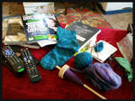 knitting and spinning