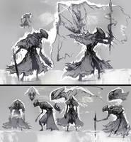 Wraith Sketches by Carpet-Crawler