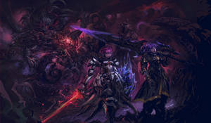 Sin and Decima defeating Exdeath- Commission work!