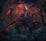 Half-Demon Elf 2 - Commission work!