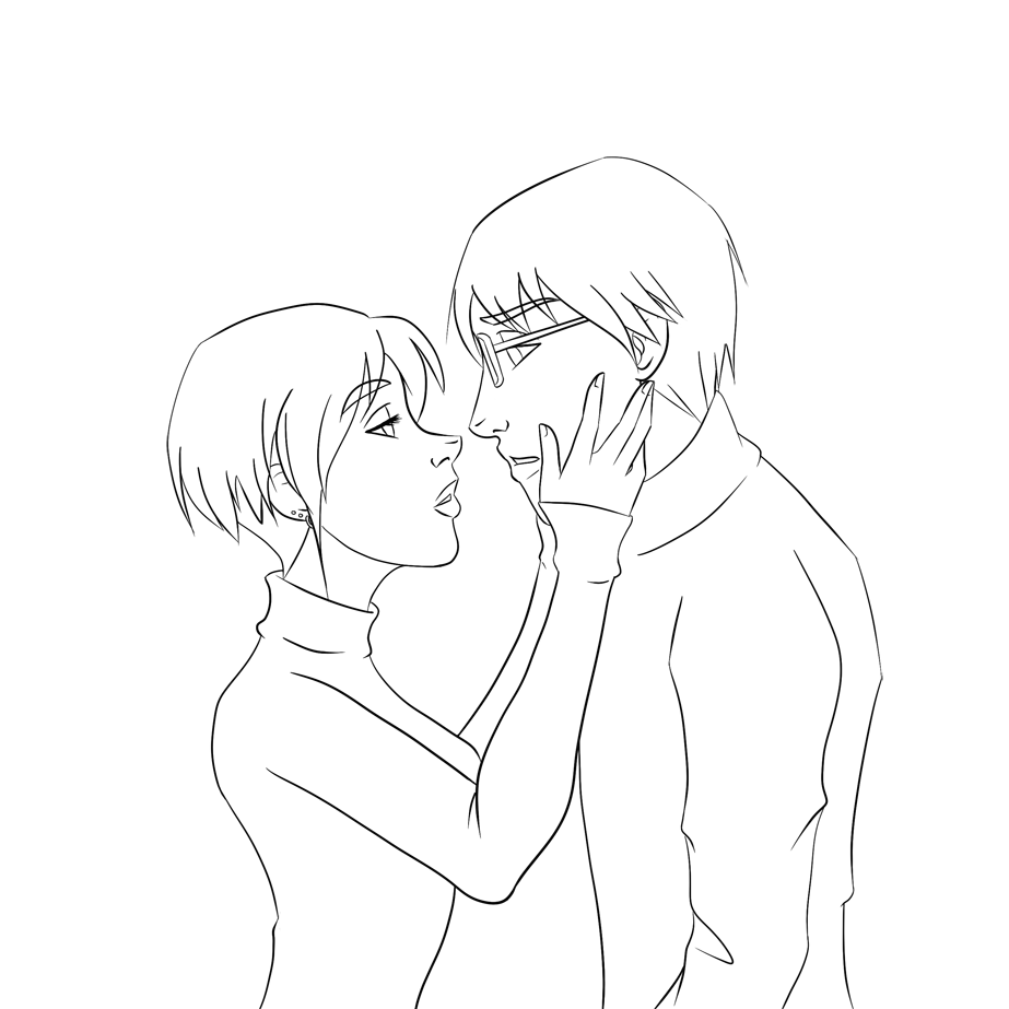 Line Drawing Kiss : Lineart kiss me by capricornsun on deviantart