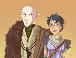 DA:I - Solas and Lavellan by CapricornSun83