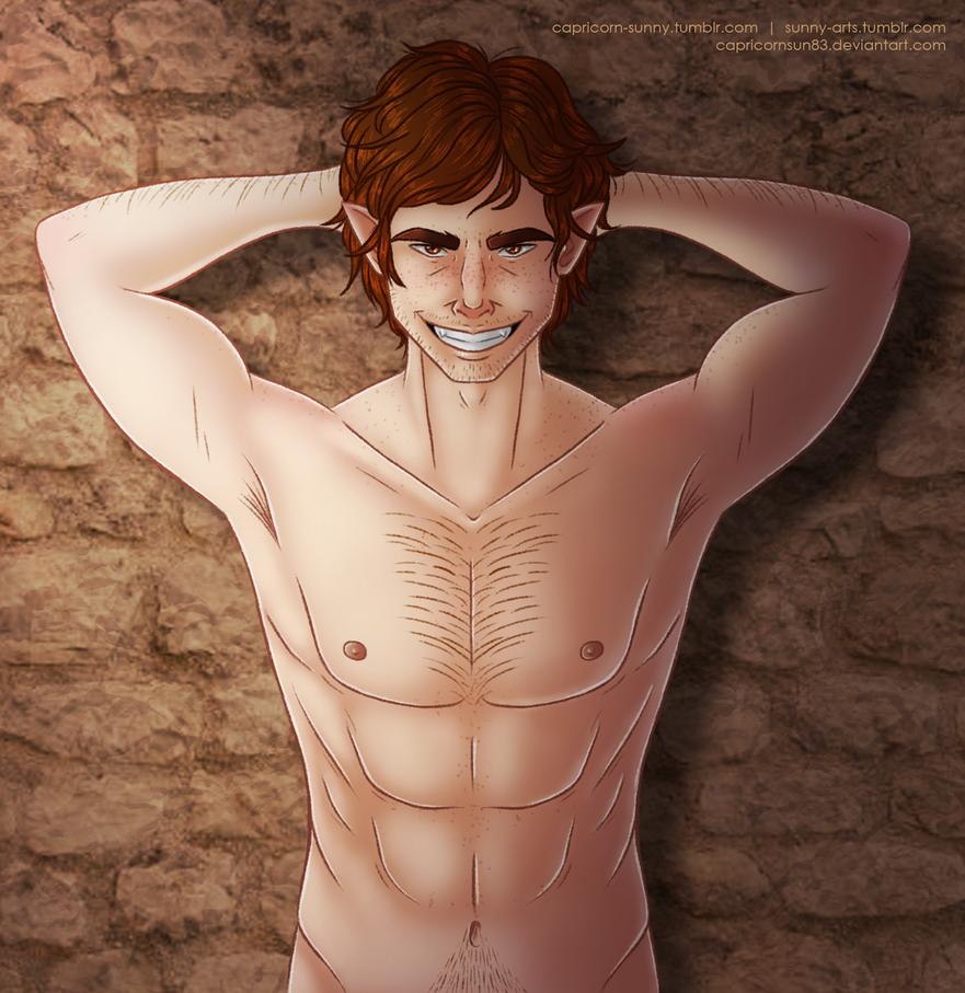 DnD: Riardon Sheedy (Nude ver.) by CapricornSun83