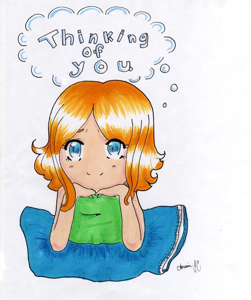 Anime thinking of you