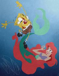 SpongeBob and Ariel!