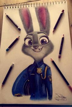 Judy Hopps! Pencil Study ~