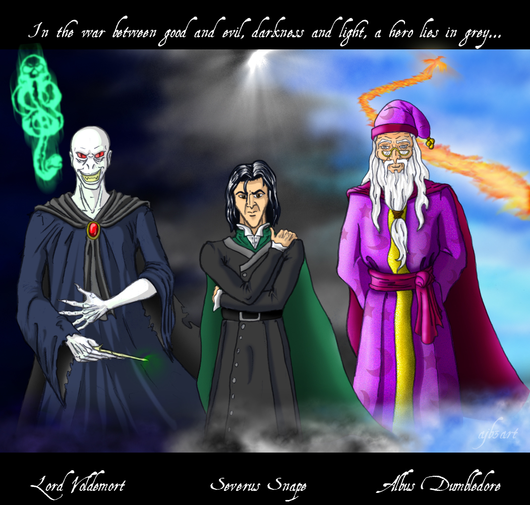 Voldemort Snape And Dumbledore By Ajb3art On DeviantArt