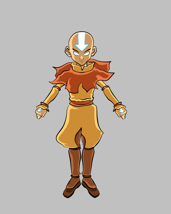 Movie Avatar State Aang: Aang Avatar State Color By Ajb3art On DeviantArt