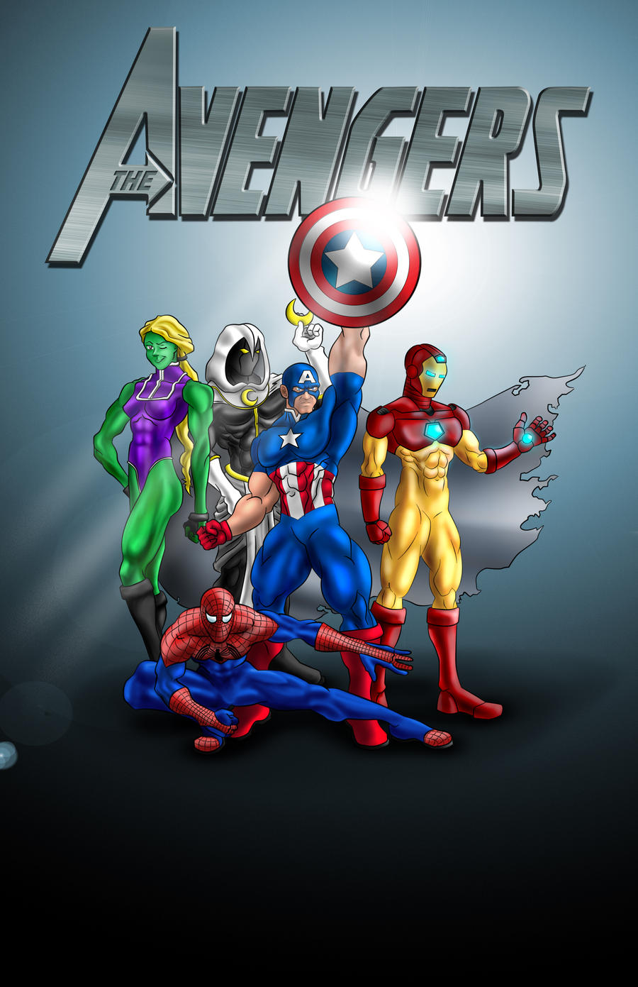 The Avengers Colored by ajb3art