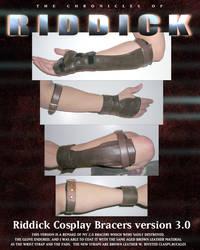 NEW RIDDICK BRACERS FINISHED by ajb3art