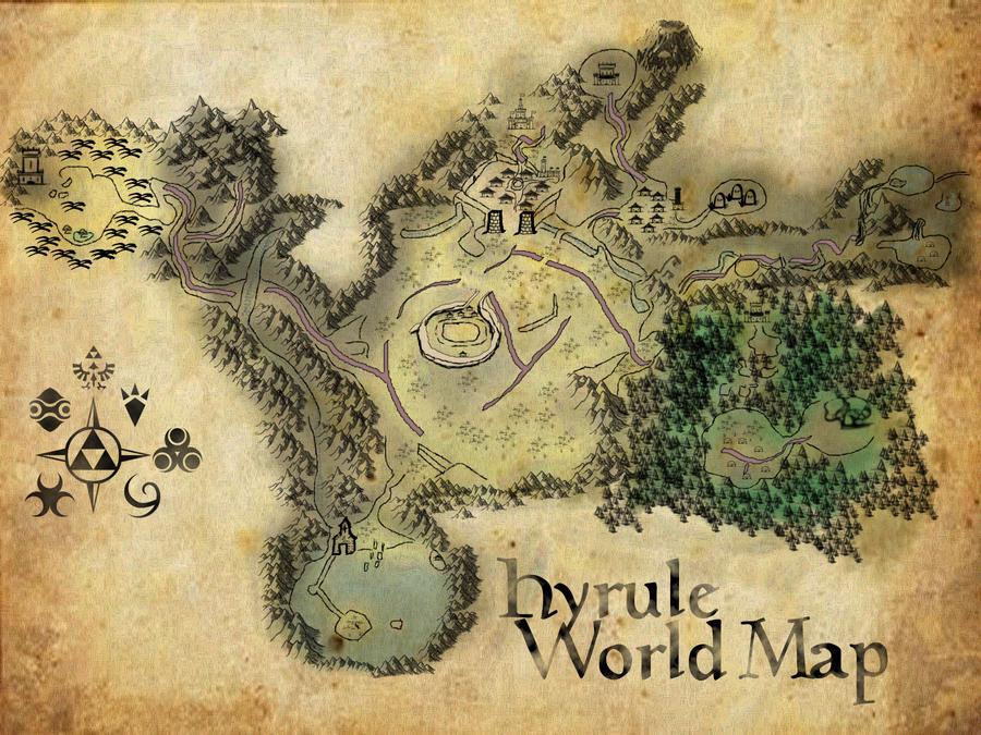 Hyrule World Map Ocarina By Ajb3art On Deviantart