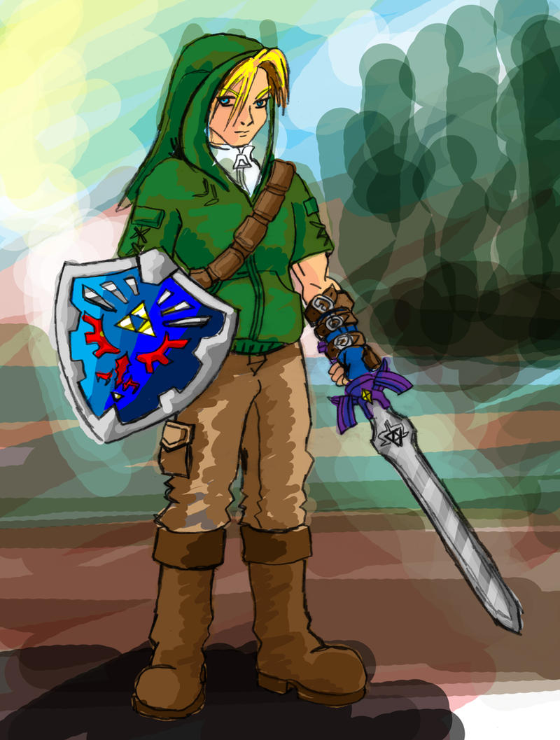 Link Kingdom Hearts speed paint. by ajb3art
