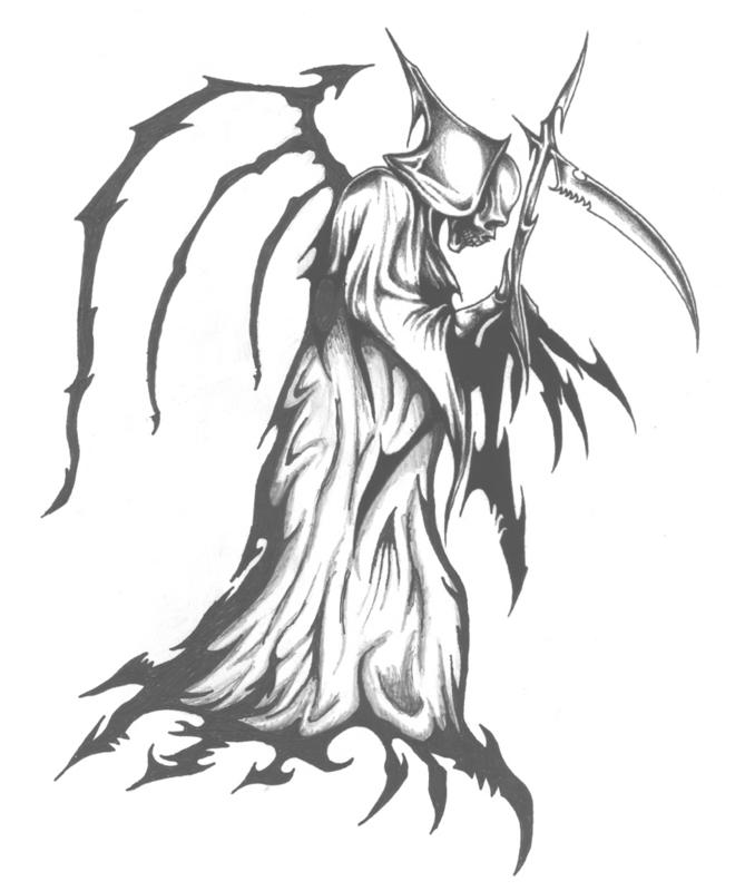 grim reaper tattoo by ajb3art on DeviantArt