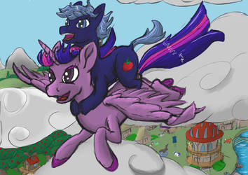 Twilight und Silly Tomato by LizardWithHat
