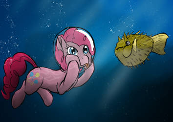 Pinkie and the Blowfish by LizardWithHat