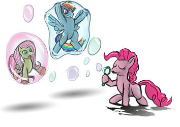 Pinkie and the Bubbles by LizardWithHat