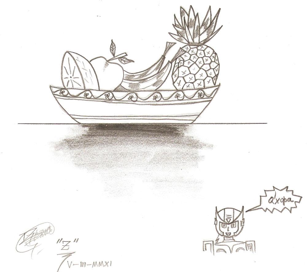 Plato de frutas by ZeroArtCreations on DeviantArt