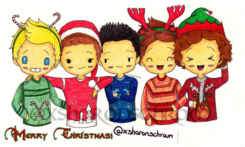 One direction christmas by sharsel on deviantart one direction christmas by sharsel voltagebd Choice Image