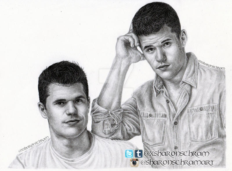 Max and Charlie Carver by Sharsel