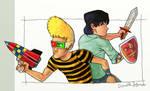 Donald y Simon colourrs by barbaryAPE