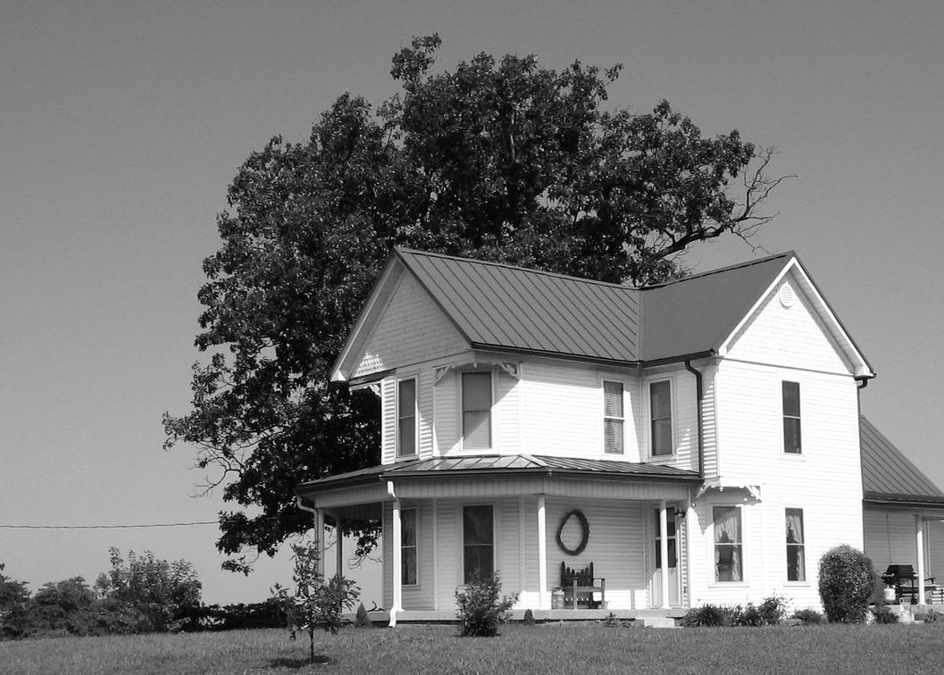 Farm house black and white by uncledave on deviantart for Images of black houses