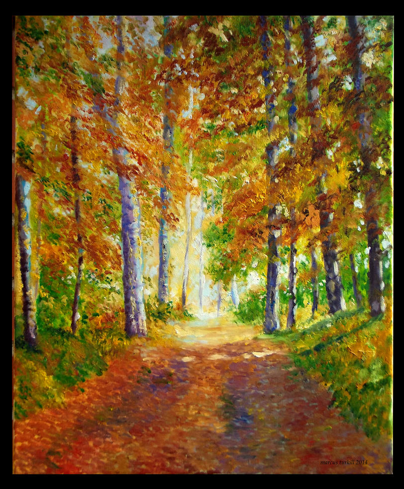 The trail. Autumn by turkill
