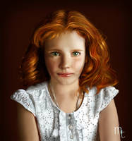Red hair girl by turkill