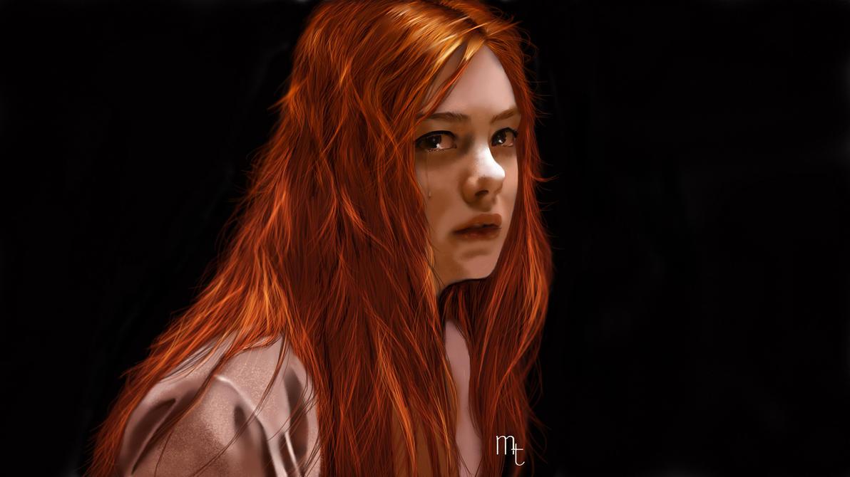 Elle Fanning portrait by turkill
