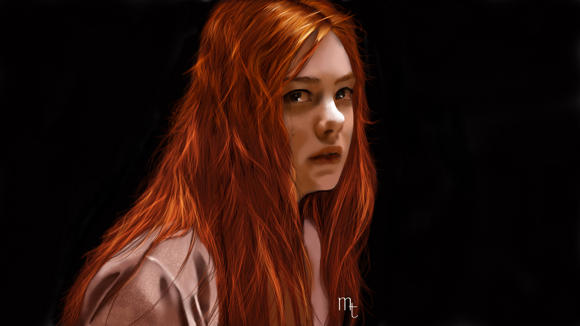Elle Fanning portrait by turkill
