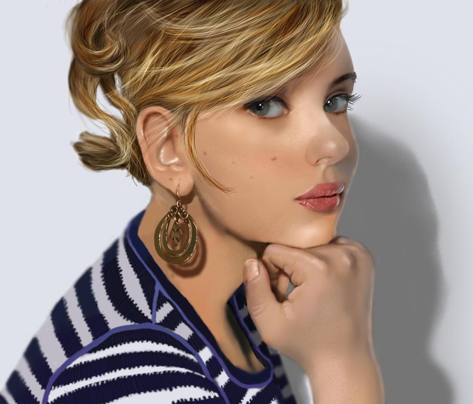 Scarlett Johansson by turkill
