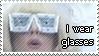 I wear glasses by prosaix